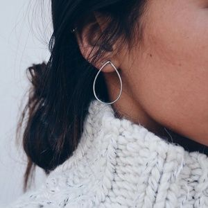 *JORJA* Simple Hollow Out Tear Drop Style Earrings